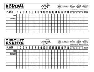 Scorecard B/W